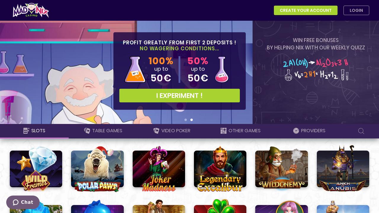 retrait madnix casino