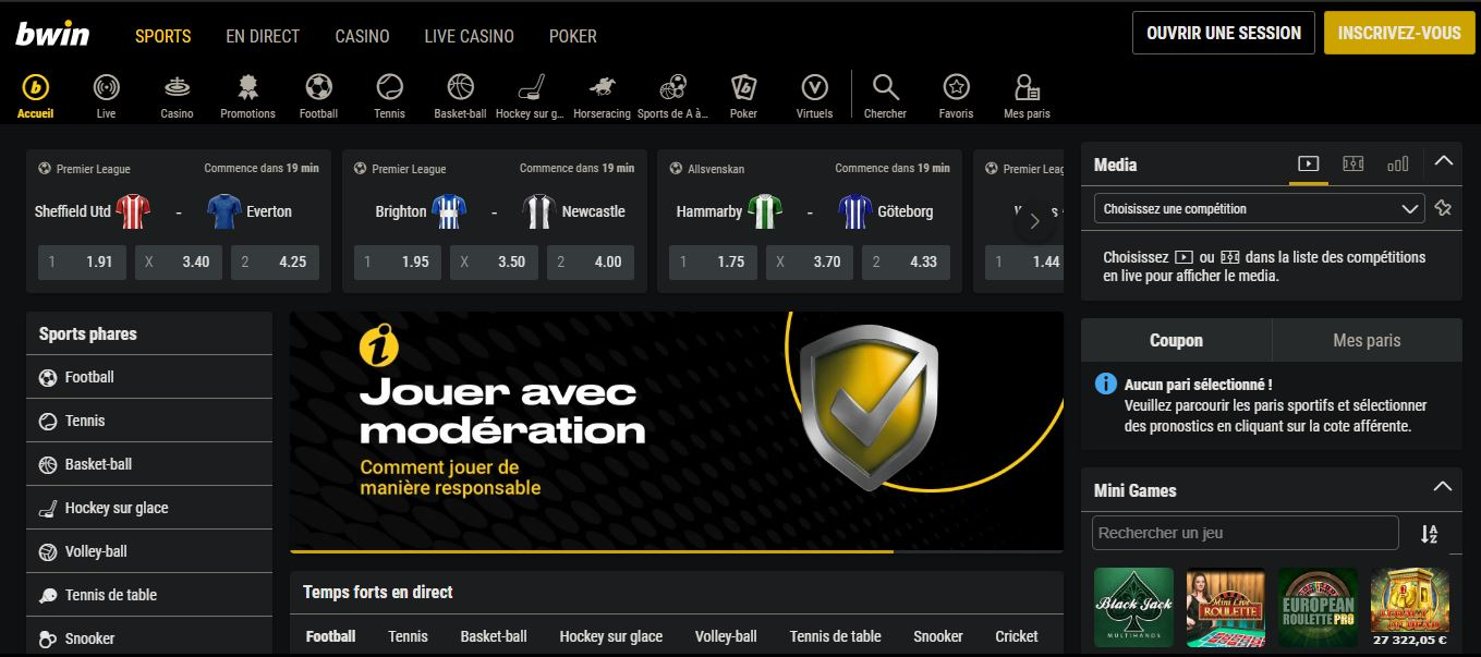 site paris sportif bwin